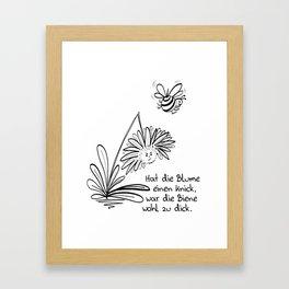 Blume und Biene Framed Art Print