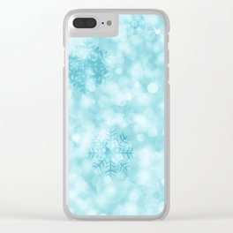 Winter Vibes Clear iPhone Case