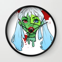 Drawlloween Zombie Wall Clock