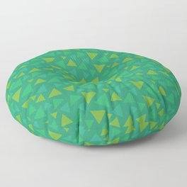 animal crossing grass pattern triangle spring green Floor Pillow