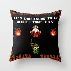 It's Dangerous to go alone! Throw Pillow