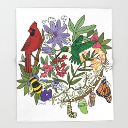 Pollinator's Garden Throw Blanket