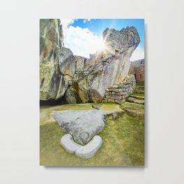 Temple of the Condor at Machu Picchu Metal Print
