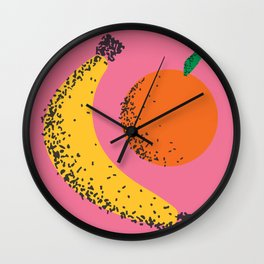Banana + Orange Wall Clock