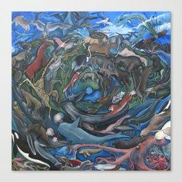 Animal Mandala Canvas Print