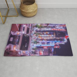 Shinjuku, purple haze, neon lights Rug