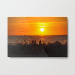 Sun + Surf Metal Print