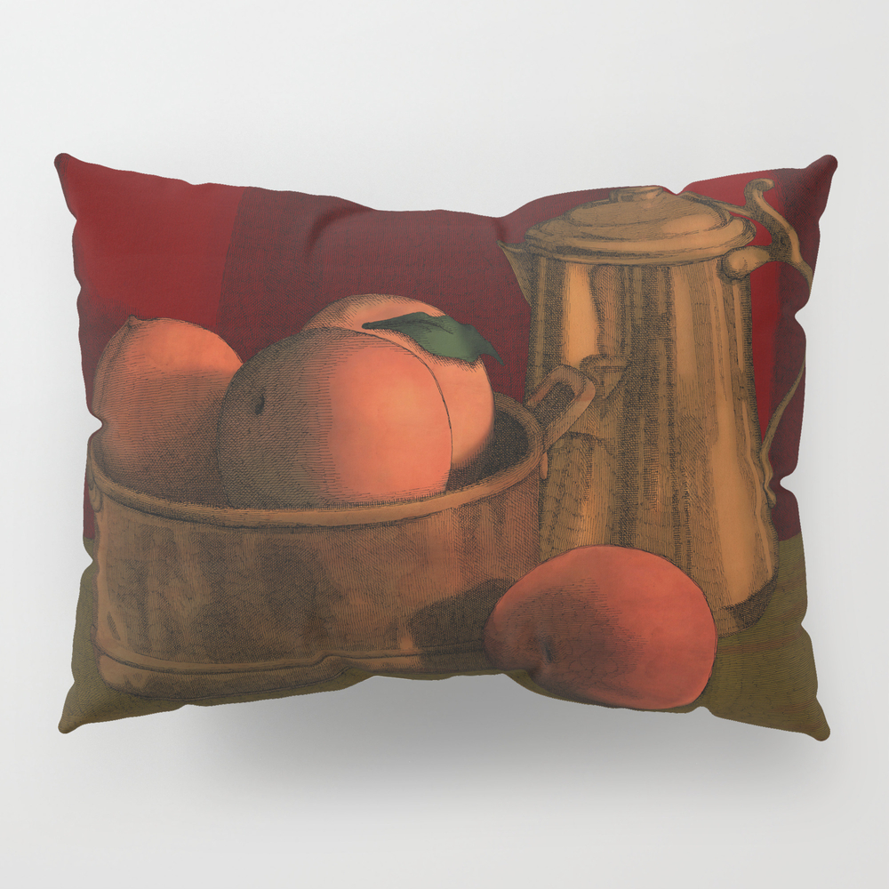 Still Life With Peaches Pillow Sham by Megstuff PSH786635