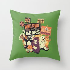 Who Run The World Bears Throw Pillow