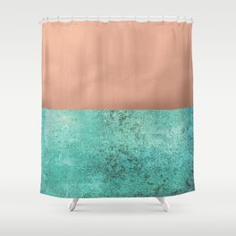 NEW EMOTIONS - ROSE & TEAL Shower Curtain