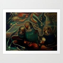Budgies Art Print