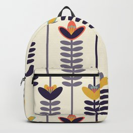Scandinavian Retro Floral Wallpaper Inspired Pattern Backpack