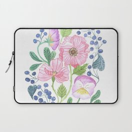 anemone and pansy Laptop Sleeve