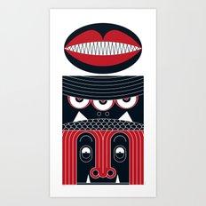 MONSTER FACE - Totem 01 Art Print