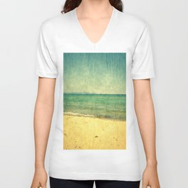 Seascape Vertical Abstract Unisex V-Neck