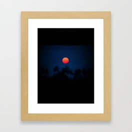 Red moon…Kerala skyline - 106 Framed Art Print