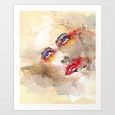 sad crown Art Print