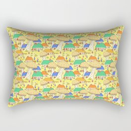 Mushroom village Rectangular Pillow