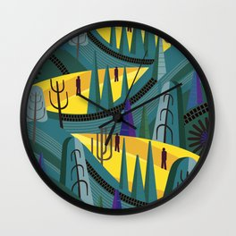 Oaxaca Pines Wall Clock