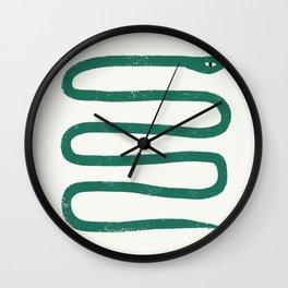 Minimal Jungle Snake Wall Clock