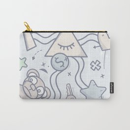 Cartoon Doodle All seeing eye. Background. Carry-All Pouch