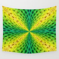 running Wall Tapestries featuring Running Dots by Lena Photo Art