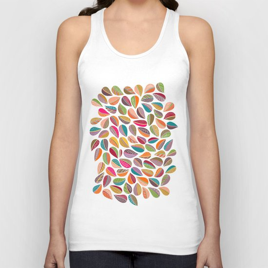 Leaf Colorful Unisex Tank Top