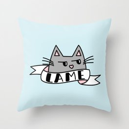 Unimpressed Throw Pillow