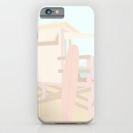 Beach Hut - Cream and Blush iPhone Case