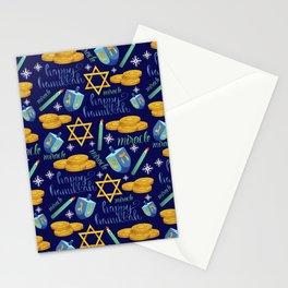 Hanukkah Pattern Stationery Cards