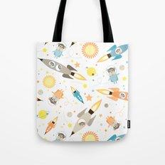 Apes in space Tote Bag