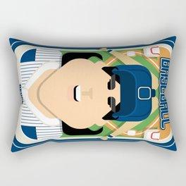 Baseball Blue Pinstripes - Deuce Crackerjack - Amy version Rectangular Pillow