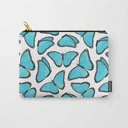Blue Morpho Butterfly Pattern Carry-All Pouch