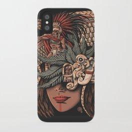 Aztec Eagle Warrior iPhone Case