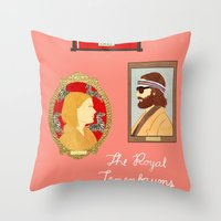 royal tenenbaums Throw Pillows featuring The Royal Tenenbaums by Anna Valle