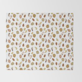 nuts Throw Blanket