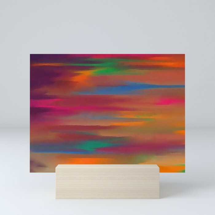 Lucid varying orange Mini Art Print