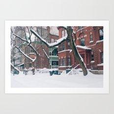 Trees & Snow Art Print