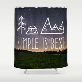 Simple Is Best Shower Curtain
