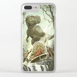 Cretaceous Conundrum Clear iPhone Case