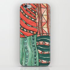 Patterned Piece #1 iPhone & iPod Skin