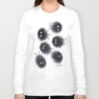 men Long Sleeve T-shirts featuring Ink Men by Jennifer Warmuth Art And Design