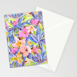 Flaunting Floral Periwinkle Stationery Cards