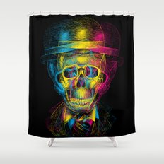 Worked to Death Shower Curtain
