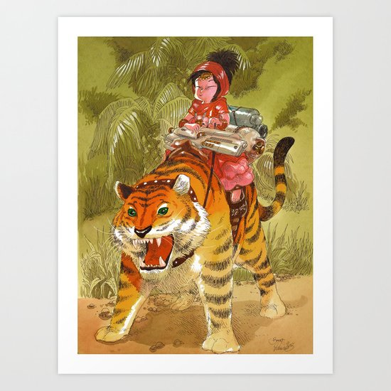 Fluo Tiger Art Print