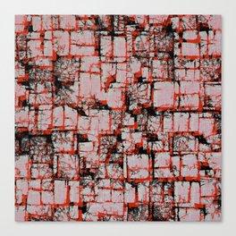 Red blocks Canvas Print