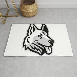 Alsatian Dog Mascot Rug