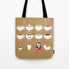 Know Your Coffees Tote Bag