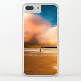 Walk into the sunset Clear iPhone Case