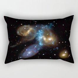 Stephan's Quintet of Five Galaxies in Constellation Pegasus Deep Space Telescopic Photograph Rectangular Pillow